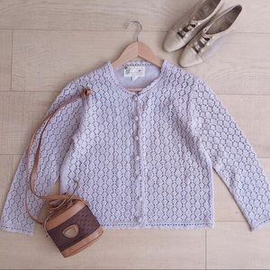 Vintage hollow out knit cardigan